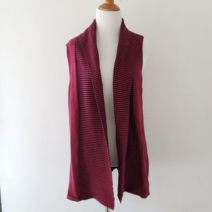 Nomadic Traders Sleeveless Cardigan Berry L cotton